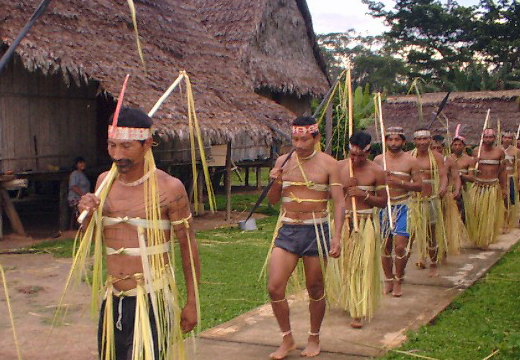 picture of tribal people in a procession