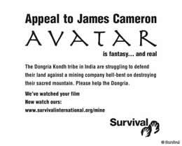 appeal to James Cameron by tribal people