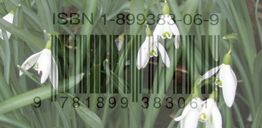 Snowdrops and barcode