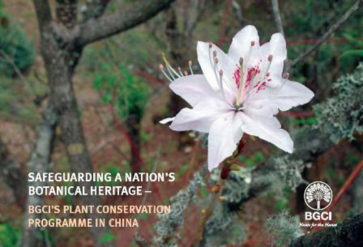 front cover of BGCI China plant conservation brochure