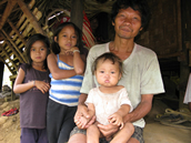 Local Palawan family group